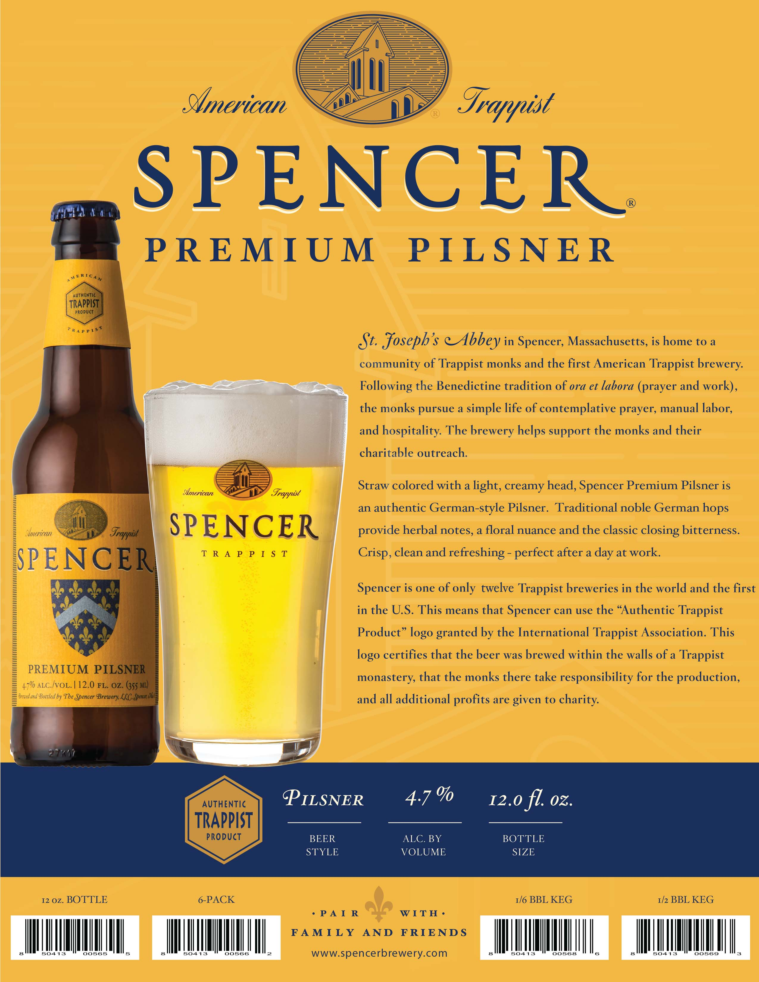 Spencer Premium Pilsner Sell Sheet
