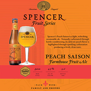Peach Saison Shelf Talker 4x4 tn
