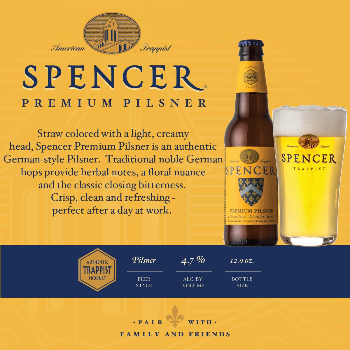 Premium Pilsner Shelf Talker 4x4
